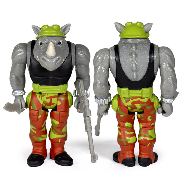 Super7 Teenage Mutant Ninja Turtles ReAction Figure Only- Rocksteady Urban Attitude