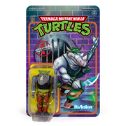 Super7 Teenage Mutant Ninja Turtles ReAction Figure - Rocksteady Urban Attitude