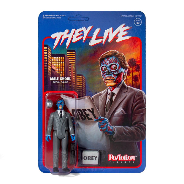 Super7 They Live ReAction Figure - Male Ghoul Urban Attitude
