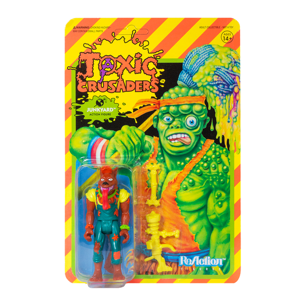 Super7 Toxic Crusaders ReAction Figure -Junkyard Urban Attitude