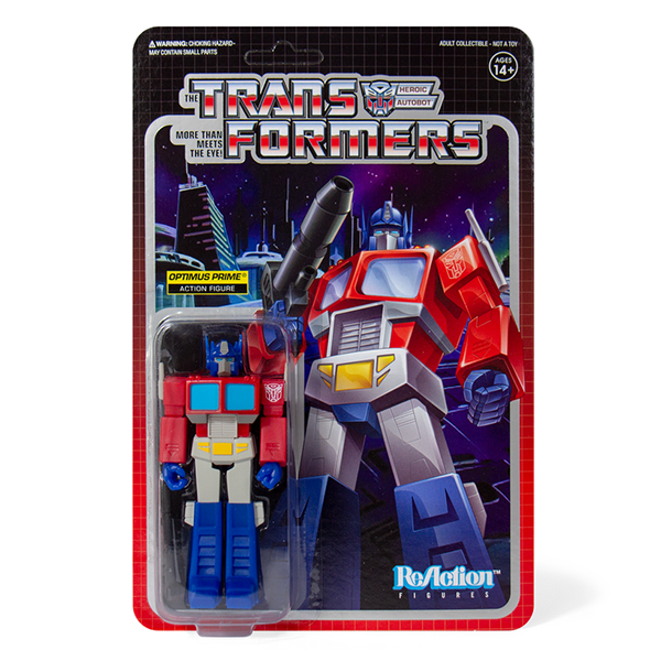 Super7 Transformers ReAction Figure - Optimus Prime Urban Attitude