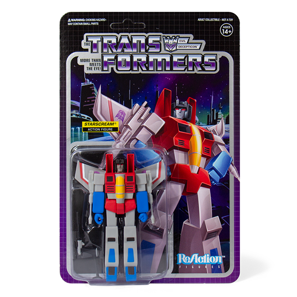 Super7 Transformers ReAction Figure - Starscream Urban Attitude