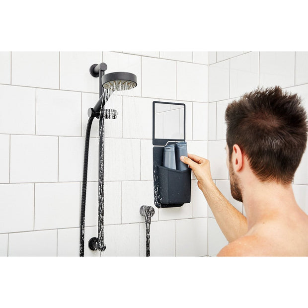 Tooletries The Frank Shower Caddy Charcoal Tiles Urban Attitude