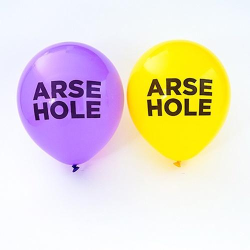 UA Balloons Pack Of 10 Arsehole Urban Attitude