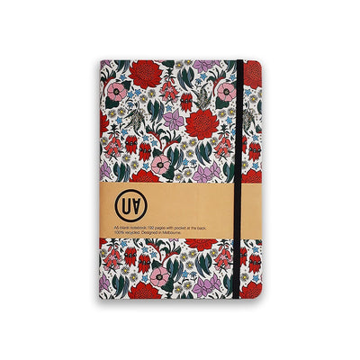 UA Hardcover Notebook State Floral Emblems Urban Attitude