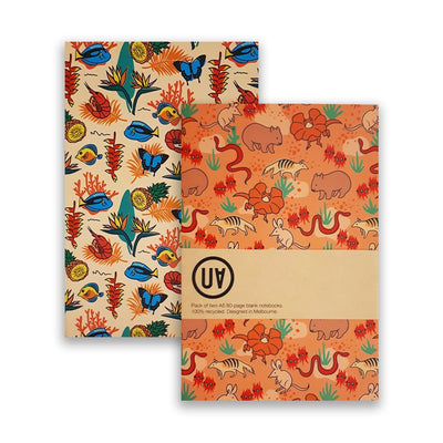UA Softcover Notebooks Set Of 2 Paradise & Sunburnt Country Urban Attitude