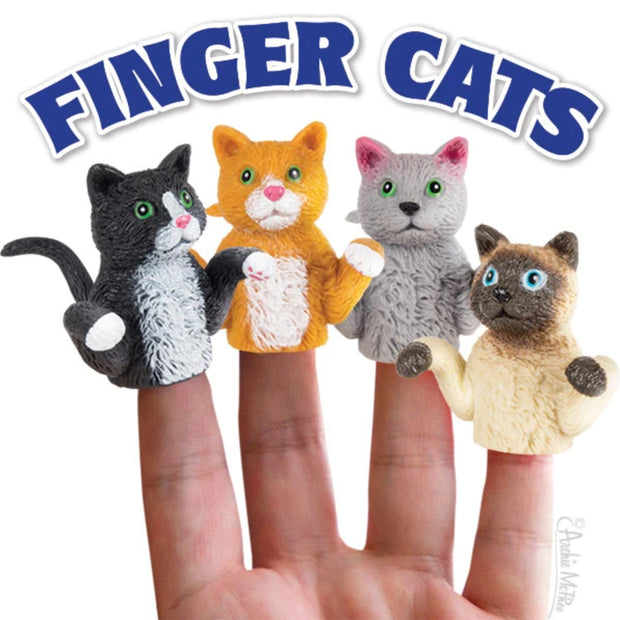 Archie McPhee Cat Finger Puppets Assorted