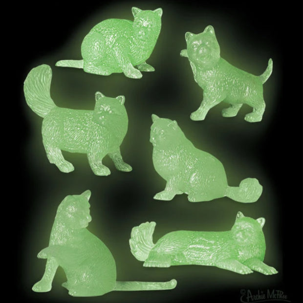 Archie McPhee Glow Cats Assorted