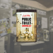 Archie McPhee Public Toilet Survival Kit Background Urban Attitude