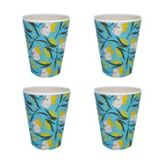 bamboo cup set of 4 cockatoo and wattle urban attitude