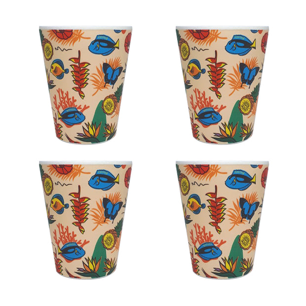 bamboo cup set of 4 paradise main urban attitude