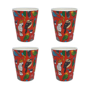 bamboo cups set of 4 birdlife main urban attitude