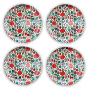 bamboo plate set of 4 state floral emblem urban attitude