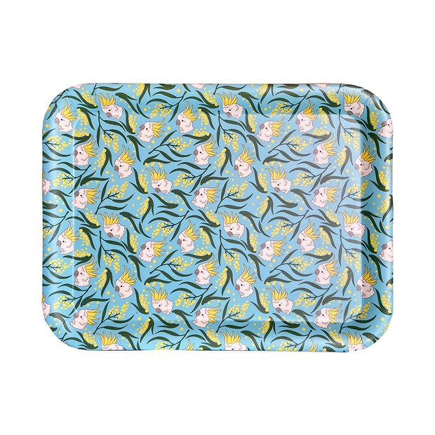 bamboo serving tray cockatoo wattle urban attitude