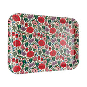 bamboo serving tray floral emblems urban attitude