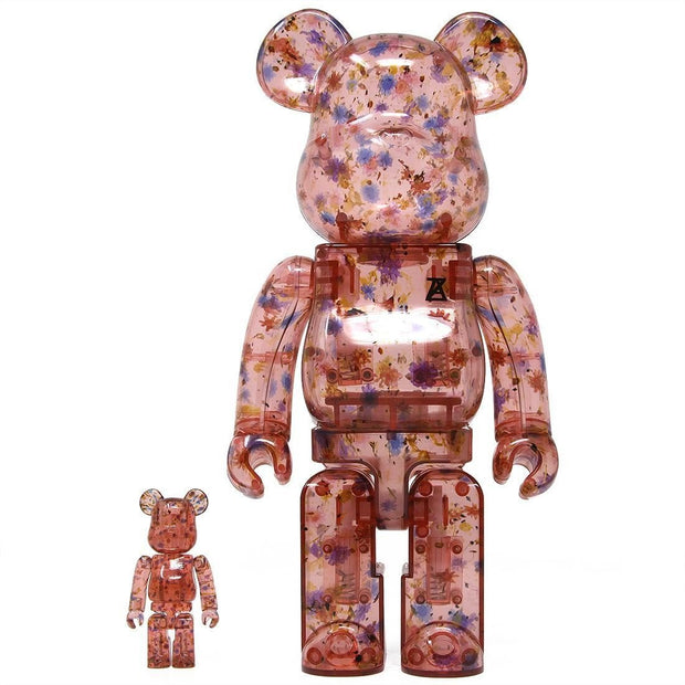 bearbrick 100% 400% Set Anrealage Clear Red urban attitude