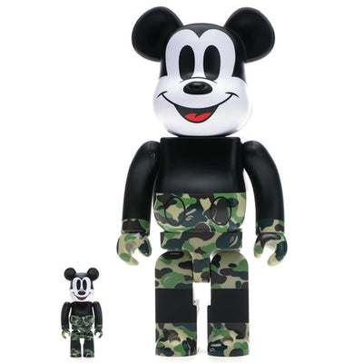 bearbrick 100% 400% Set Bape Mickey Mouse Green Camo urban attitude
