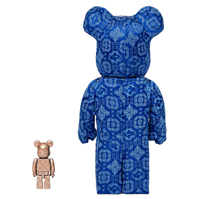 Bearbrick 100% & 400% Set CLOT X Nike Royal University Blue Silk - PRE-ORDER urban attitude