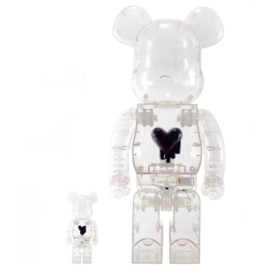 Bearbrick 100% & 400% Set Emotionally Unavailable Heart Black