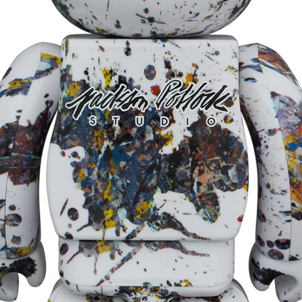 bearbrick 100 400 set jackson pollock studio splash back urban attitude
