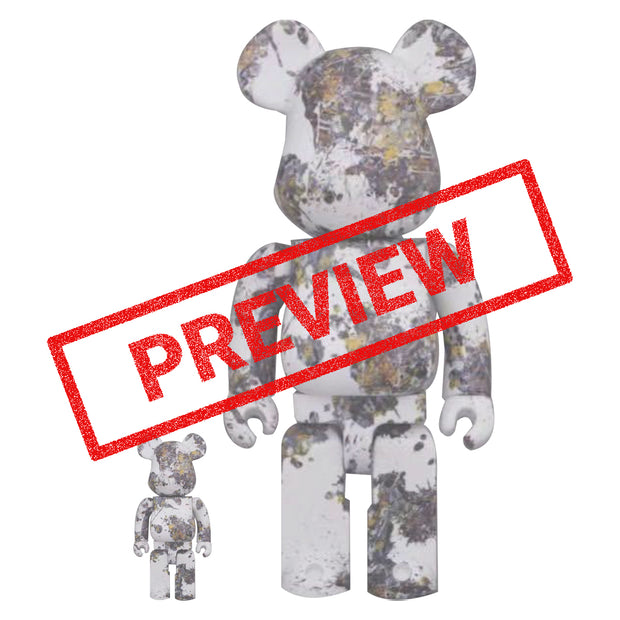 bearbrick 100 400 set jackson pollock studio splash preview urban attitude