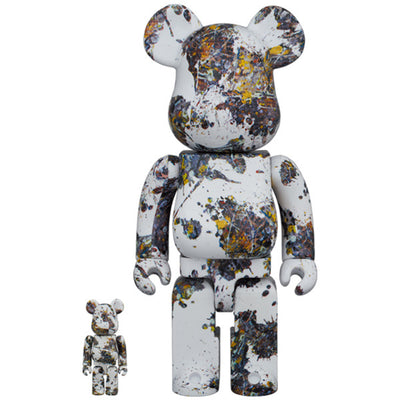 bearbrick 100 400 set jackson pollock studio splash urban attitude