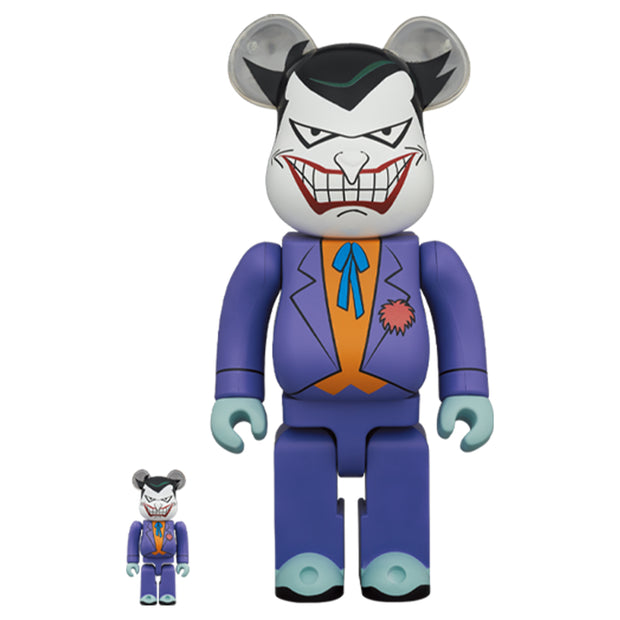 bearbrick 100 and 400 set joker batman animated series dc urban attitude