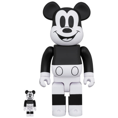 bearbrick 100 400 set mickey mouse black white 2020 version urban attitude