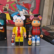 bearbrick 100 400 set of 4 back to the future doc and marty lifestyle urban attitude