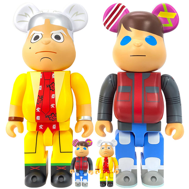 bearbrick 100 400 set of 4 back to the future doc and marty urban attitude