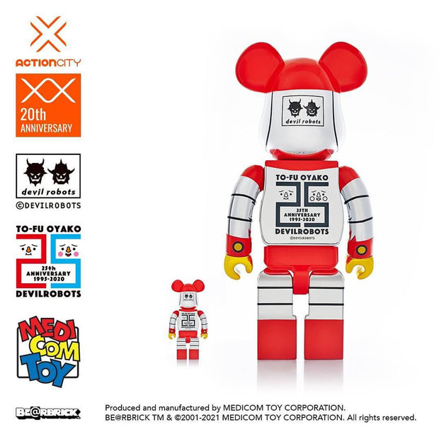 bearbrick 100 400 set to-fu oyako devilrobots 25th anniversary back promo urban attitude