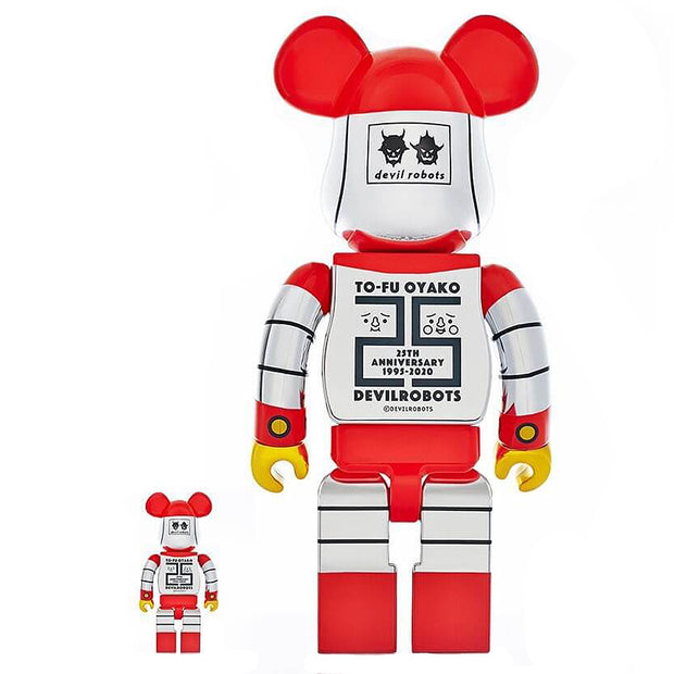 bearbrick 100 400 set to-fu oyako devilrobots 25th anniversary back urban attitude