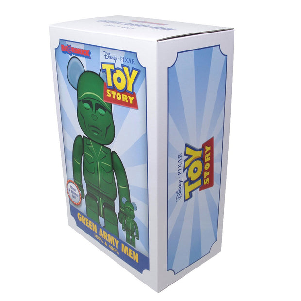 Bearbrick 100% & 400% Set Toy Story Green Army Men box urban attitude