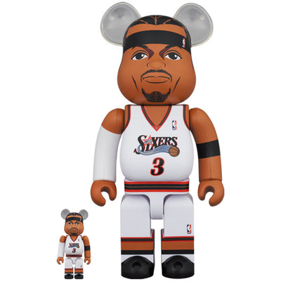 bearbrick 100 and 400 set allen iverson urban attitude
