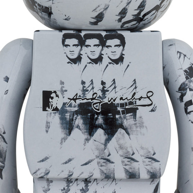 bearbrick 100 and 400 set andy warhol elvis presley back urban attitude