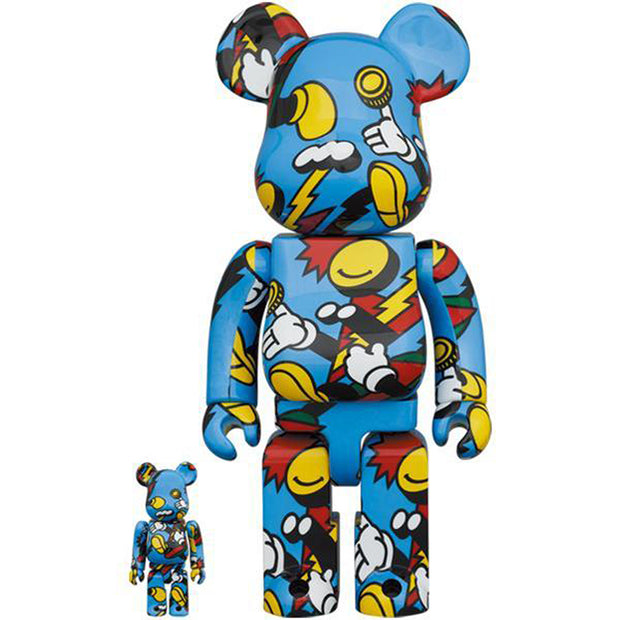 bearbrick 100 and 400 set grafflex front urban attitude
