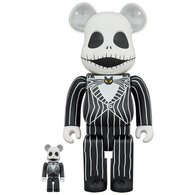 bearbrick 100 and 400 set jack skellington 2021 front urban attitude