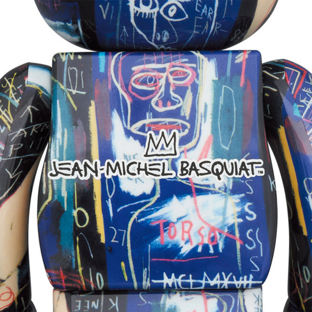 bearbrick 100 and 400 set jean-michel basquiat 7 back urban attitude