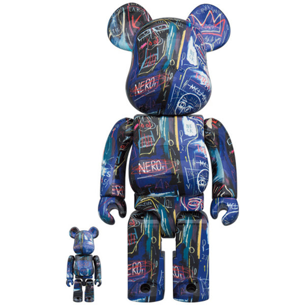 bearbrick 100 and 400 set jean-michel basquiat 7 urban attitude