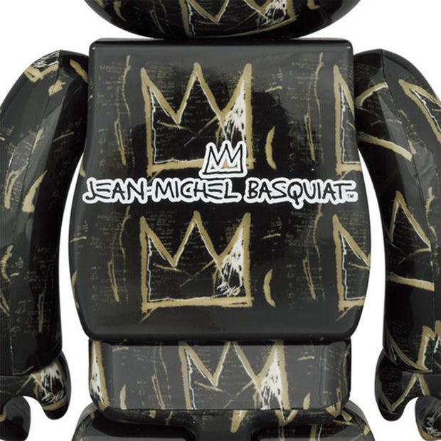 bearbrick 100 and 400 set jean-michel basquiat version 8 back urban attitude