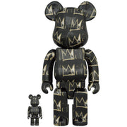 bearbrick 100 and 400 set jean-michel basquiat version 8 front urban attitude