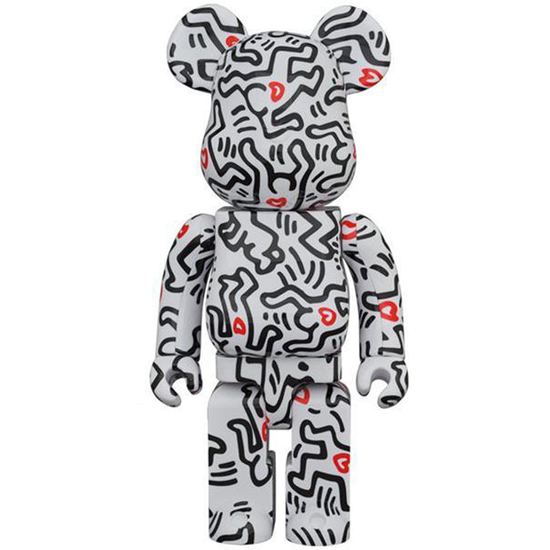 bearbrick 100 and 400 set keith haring version 8 400 urban attitude