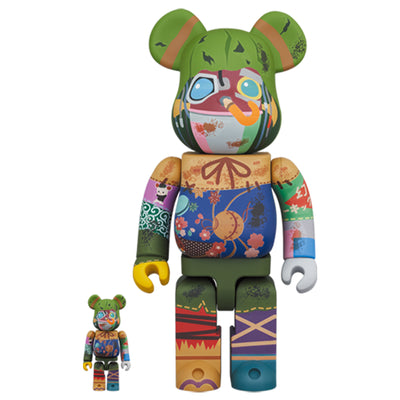 bearbrick 100 and 400 set poupelle urban attitude