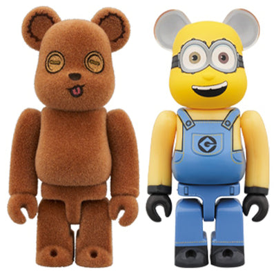 bearbrick 100% set despicable me minions bob tim bear urban attitude