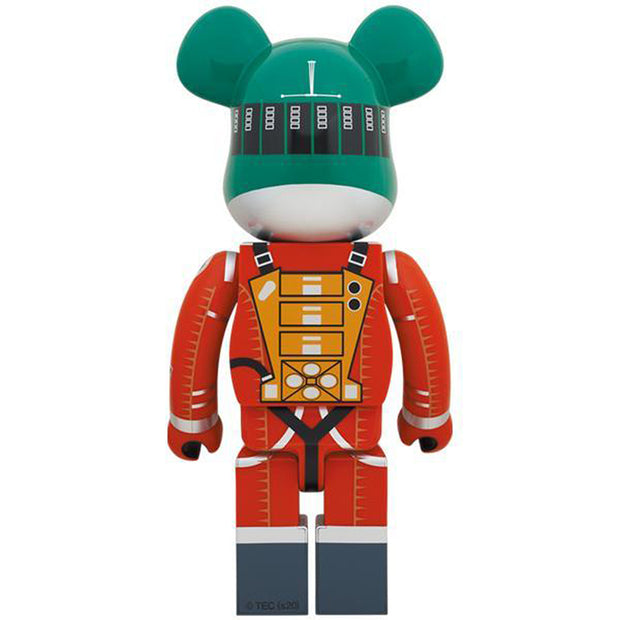 bearbrick 1000 2001 a space odyssey green orange suit version back urban attitude