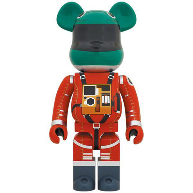 bearbrick 1000 2001 a space odyssey green orange suit version front urban attitude