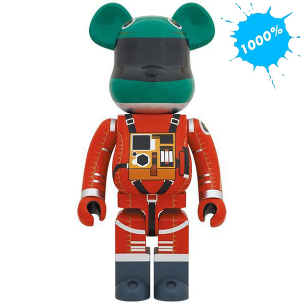 bearbrick 1000 2001 a space odyssey green orange suit version main urban attitude