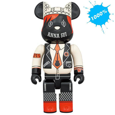 bearbrick 1000 anna sui red and beige urban attitude