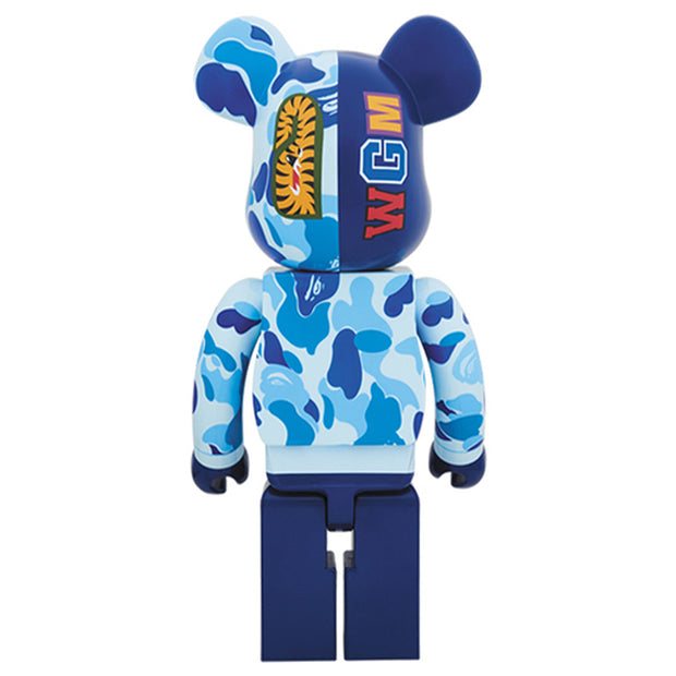 bearbrick 1000 bape camo shark set of 3 blue back urban attitude
