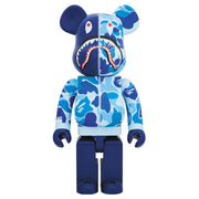 bearbrick 1000 bape camo shark set of 3 blue urban attitude